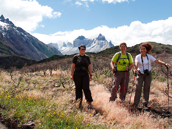 Minhas animadas companheiras durante o trekking no Circuito W, em Torres del Paine, Chile - Foto: Amandina Morbeck.