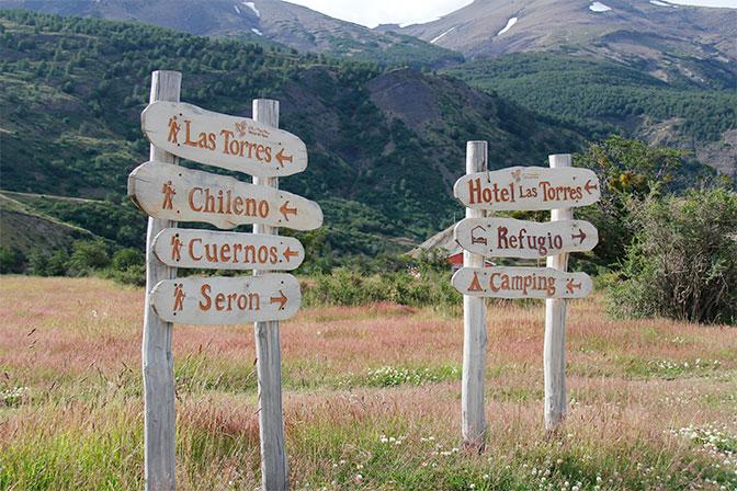 Indicações em Torres del Paine - Foto: Amandina Morbeck.