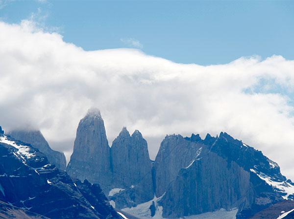 Torres do maciço Paine - Foto: Amandina Morbeck.