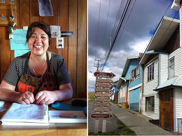 Maria Esther, proprietária do Hostal Carlitos em Puerto Natales, Chile - Foto: Amandina Morbeck.