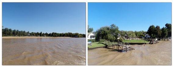 Praia e muito verde nas margens dos rios do delta do Tigre, Argentina - Fotos: Amandina Morbeck.