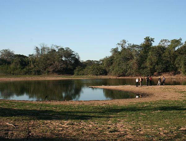 Paisagem durante a caminhada pela fazenda - Pantanal de Mato Grosso do Sul na seca - www.viajandocomaman.com.br - Foto: Amandina Morbeck.
