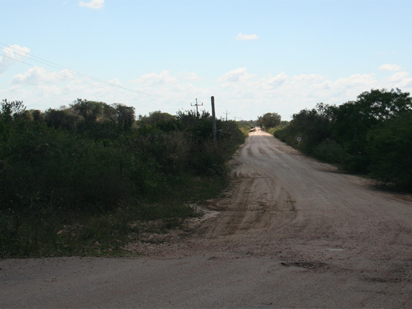 No Buraco das Piranhas, o começo da estrada-parque não tem destaque algum - Pantanal do Mato Grosso do Sul na seca - www.viajandocomaman.com.br - Foto: Amandina Morbeck.