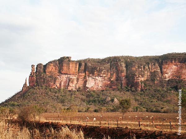 Vista da serra sentido sul - www.viajandocomaman.com.br - Foto: Amandina Morbeck..
