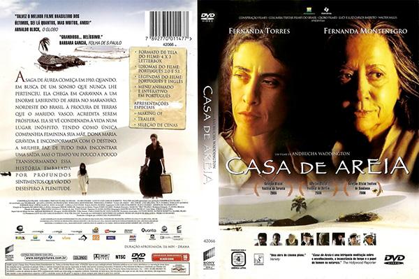 Capa do DVD - o filme Casa de Areia foi gravado nos Lençóis Maranhenses - Foto: Reprodução.