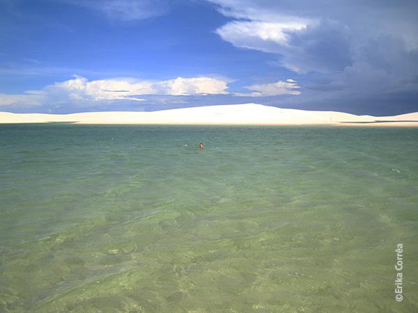 Lagoa da Gaivota - Santo Amaro - Travessia dos Lençóis Maranhenses - dia 1 - Foto: Erika Corrêa.