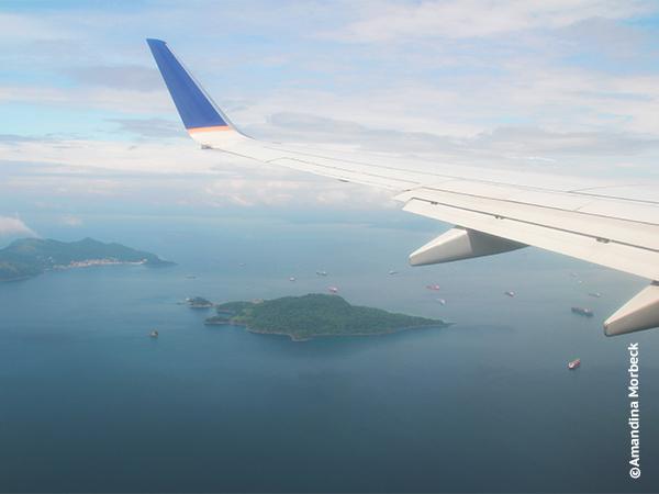 Voo sobre o Panamá - Foto: Amandina Morbeck.