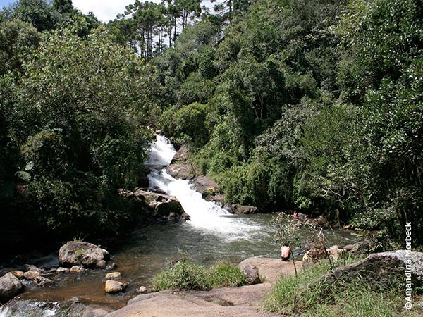 Cachoeira do Simão em Gonçalves, a pérola da Mantiqueira no sul de Minas Gerais - Foto: Amandina Morbeck.