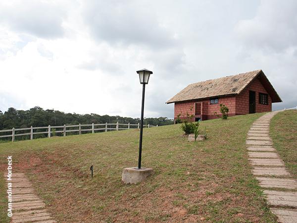 Chalé para alugar na Trutaria Lago Azul em Gonçalves, Minas Gerais - Foto: Amandina Morbeck.
