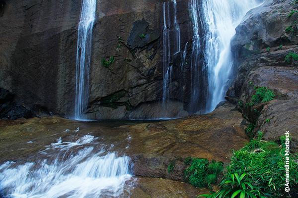 Cachoeira do Gato, onde se chega por uma trilha de 2 km - Foto: Amandina Morbeck.