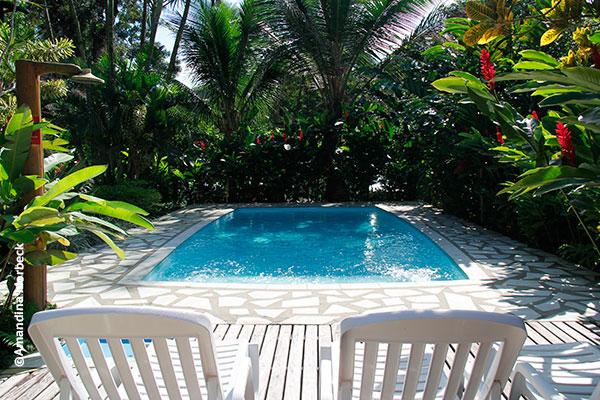 A piscina da Pousada Ecoilha - Foto: Amandina Morbeck.