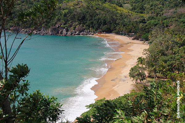 Praia do Jabaquara no norte de Ilhabela - Foto: Amandina Morbeck.