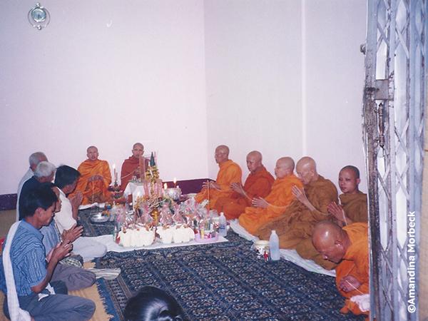 Os monges que conduziram a cerimônia - Foto: Amandina Morbeck.
