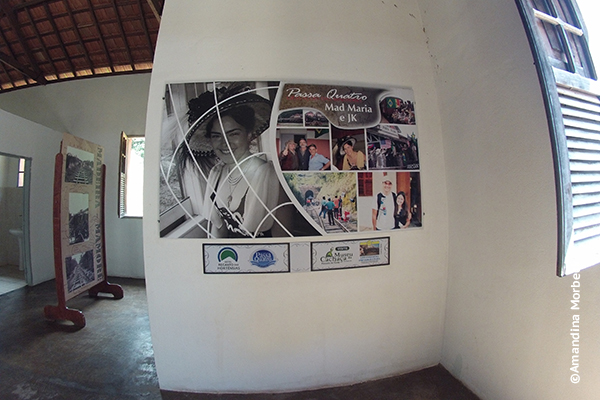 Exposição com fotos da minissérie Mad Maria na estação Coronel Fulgêncio - Foto: Amandina Morbeck.