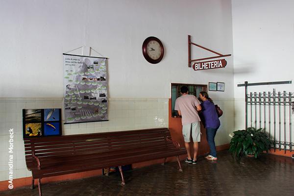 Bilheteria da estação em Passa Quatro - Foto: Amandina Morbeck.