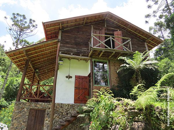 Sede com bistrozinho na Floresta Barnabé em Gonçalves, Minas Gerais - Foto: Amandina Morbeck..