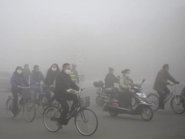 Parece neblina, mas é poluição pura - Foto: Reprodução/Getty Images.