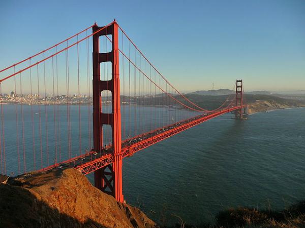 Estados Unidos - número de visitantes: 67 milhões | Foto: Golden Gate em San Francisco, Califórnia - Reprodução/Wikimedia-Octagon.
