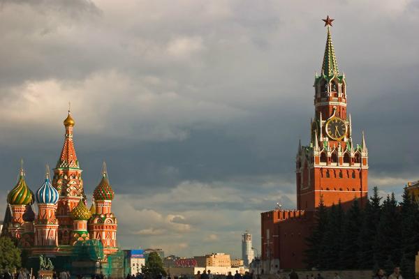 Países mais visitados do mundo - 9- Rússia - Torres da Catedral de São Basílio em Moscou - Foto: Wikimedia/Dmitri Azovtsev.