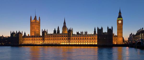 Países mais visitados do mundo - 8- Reino Unido - Palácio de Westminster em Londres - Foto: Wikimedia/David Iliff.