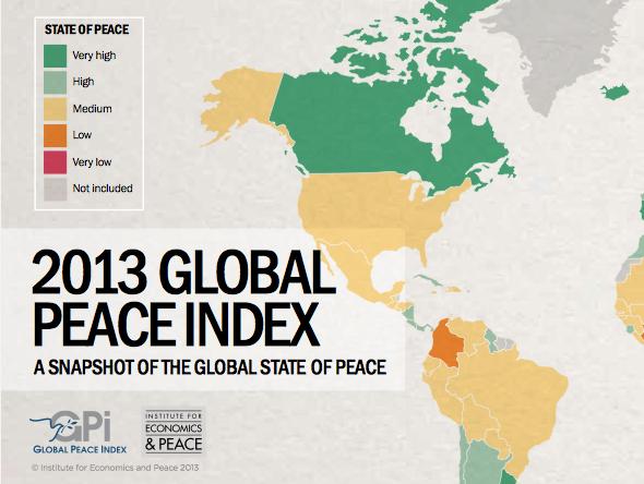 Pelo Global Peace Index você fica sabendo quais os países mais e menos pacíficos do mundo - Foto: Reprodução.