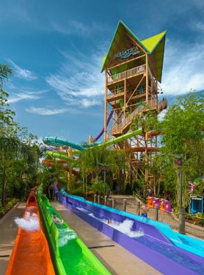 Breakaway Falls no Aquatica em Orlando.