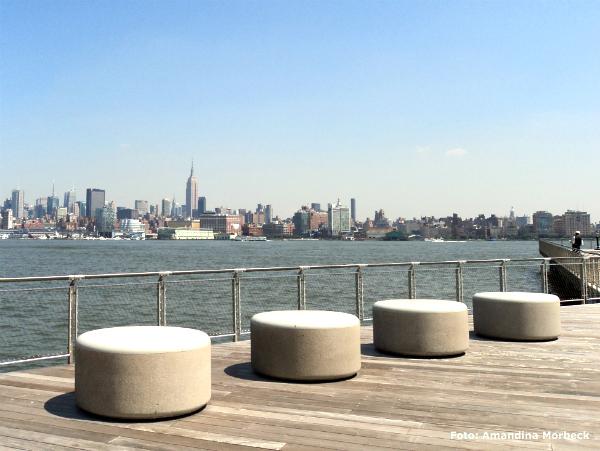 Manhattan, New York, e o Rio Hudson - 5 destinos mais visitados pelos brasileiros nos Estados Unidos - Foto: Amandina Morbeck.