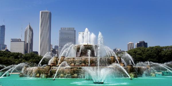 Buckingham Fountain em Chicago - Foto: Kleber Carvalho.
