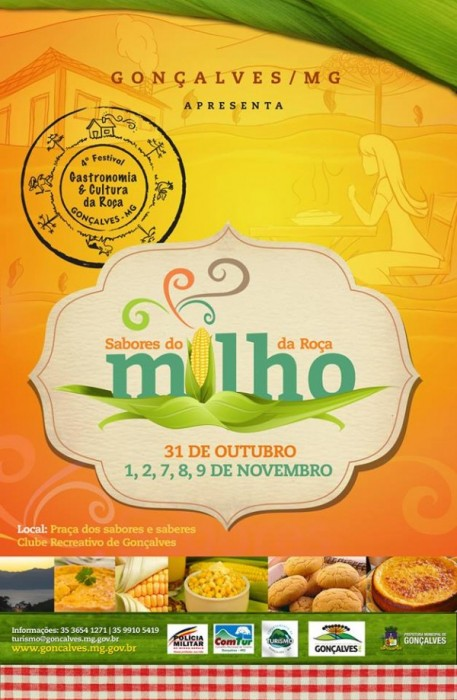 Cartaz do IV Festival de Gastronomia e Cultura da Roça de Gonçalves (MG).