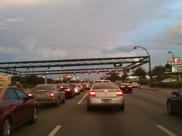 Congestionamento em Miami - Foto: Rodrigo Duzzi.