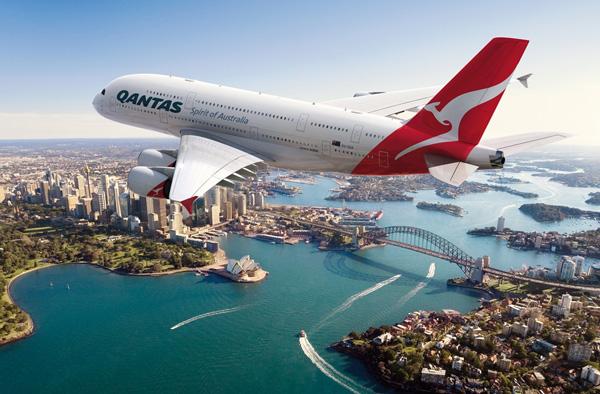 10 melhores companhias aéreas do mundo (2015) - Qantas - 10 lugar.