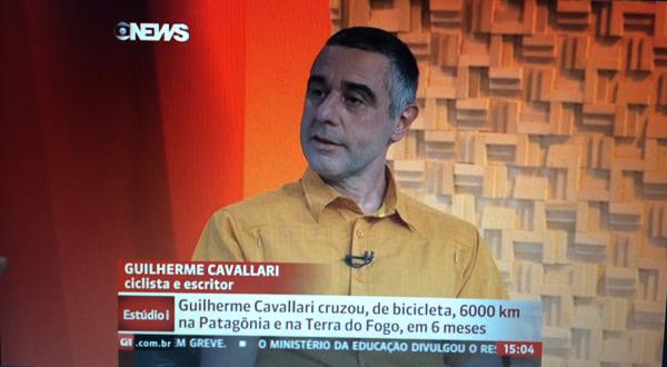 Guilherme Cavallari, autor do livro Transpatagônia - Pumas não comem ciclistas.