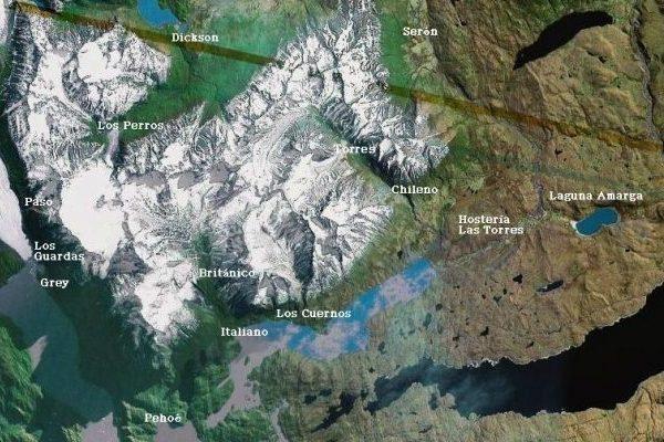 Acampamentos ao longos das trilhas do parque - Agendamento para acampamentos em Torres del Paine, Chile - Imagem: Reprodução.